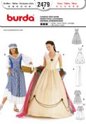 2479 Burda Pattern: Misses' Empress and Washerwoman Costumes